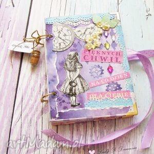 notes/dziennik/alicja w krainie czarów, zapiski, sekretnik, pamiętnik, zeszyt, bajka
