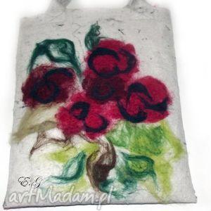 hand-made na ramię filcowa malowana