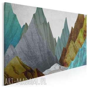 obraz na płótnie - góry szczyty abstrakcja 120x80 cm 42401, góry