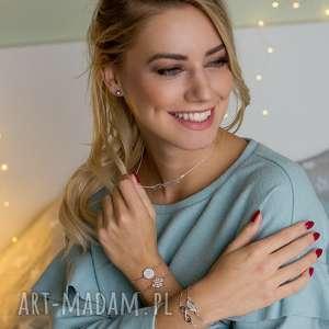 ręczne wykonanie bransoletki bransoletka z cyrkoniami - gentle glow
