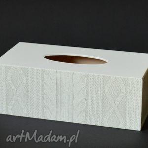 pudełka chustecznik - pudełko na chusteczki wełna, pudełkonachusteczki