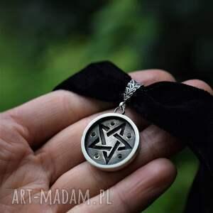 naszyjnik yennefer, wiedźma, wiedźmin, srebrny pentagram, jennefer