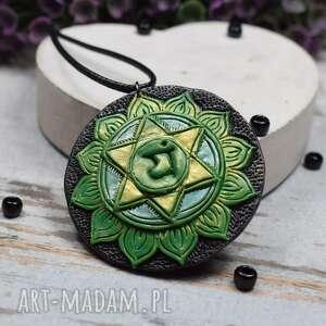 handmade wisiorki wisior anahata - duży wisiorek czakry serca