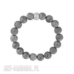 gentle glow - grey., minerały, druzy, agat, koralik