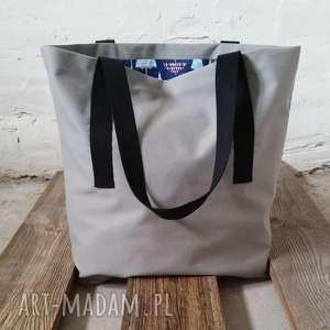 Shoppertash szary rzana saszetka / TORBA SHOPPER BAG, shopperbag, torba, print