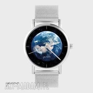 Prezent Zegarek, bransoletka - Ziemia metalowy, zegarek, bransoletka, metalowy