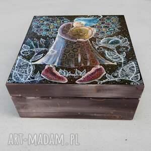 pudełka szkatułka anioł dobrych snów, szkatułka, pudełko, na skarby, 4mara