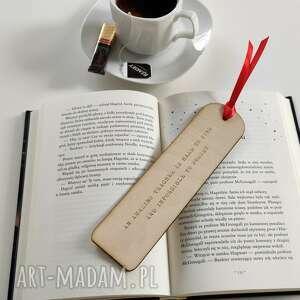 drewniana zakładka do książki prezent dzień nauczyciela, drewniana, zakładka