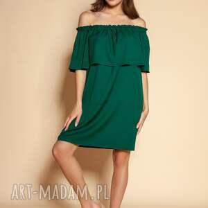 sukienki krótka sukienka hiszpanka - suk201 zielony