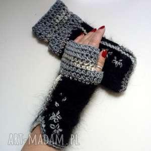 the wool art rękawiczki mitenki, rękawiczki, na drutach, prezent