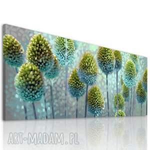 obraz drukowany na płótnie kwiaty czosnków w błękitach -format 150x60cm 03124