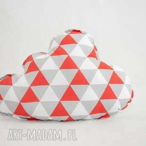 handmade pokoik dziecka poduszka chmurka magiczne trójkąty - pomarańcz