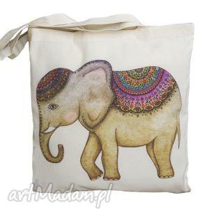 Torba ekologiczna. Słoń, zakupy, torba, torebka, słoń, słonik