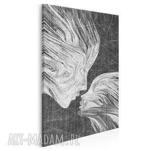 obraz na płótnie - twarze pocałunek w pionie 50x70 cm 13512