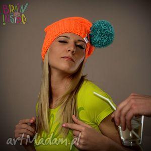 czapka zimowa brain inside - model foreplay, zimowa, czapka, pompon, kolorowa