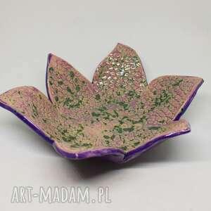 dekoracje piękna misa patera z ceramiki wyjątkowa rękodzieło
