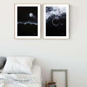 zestaw 2 grafik 30X40 cm wykonanych ręcznie, plakat, abstrakcja, elegancki minimalizm