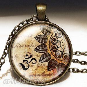medytacja - duży medalion z łańcuszkiem - orientalny, naszyjnik