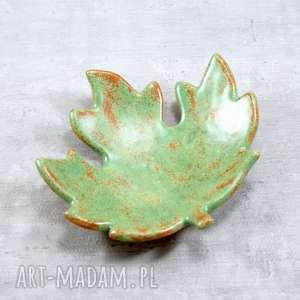 ręcznie wykonane ceramika miseczka liść klonu