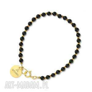 bransoletka z onyksem c897, onyksem, czarna biżuteria, elegancka