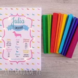 hand-made pokoik dziecka świecąca tablica urodzinowa personalizowany prezent dla roczek