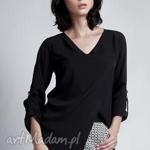 Bluzka, blu118 czarny bluzki lanti urban fashion lekka, mgiełka
