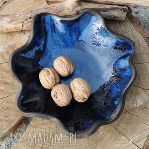 ceramiczna czekoladowa misa c 168, misa, patera, miska, na owoce