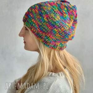 kolorowa bawełniana czapka, bawełna, czapka