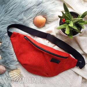 czerwona nerka xxl bardzo pojemna, torebka, pojemna nerka, saszetka