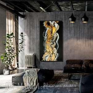 - czarny piasek xl nowoczesny obraz ręcznie malowany na płótnie, do salonu