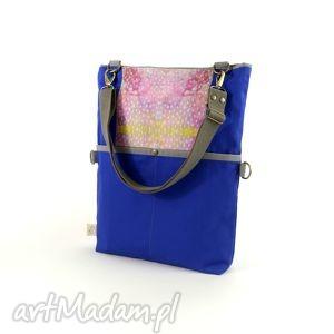 hand-made na ramię torba na ramię składana z serii duo blue (no. 2)