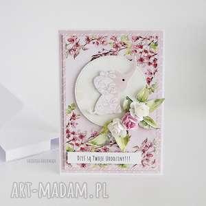 kartka urodzinowa ze słonikiem 464 - słoń dziecięca