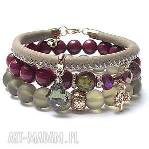unikalny prezent, ruby vol 4 07-12-16 set, jadeity, szkło, skóra, rzemień