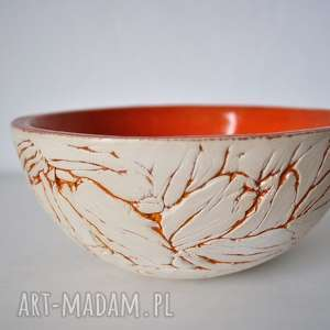 Misa ceramiczna marszczona pomarańczowa ceramika tyka ceramika