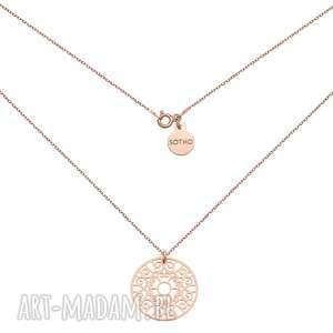 ręcznie zrobione naszyjniki naszyjnik z różowego złota z dużą rozetką