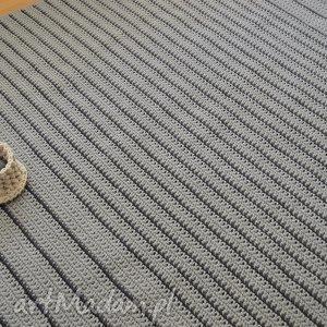 Szare paski petelkowo dywan, chodnik, paski, minimalizm, prosty