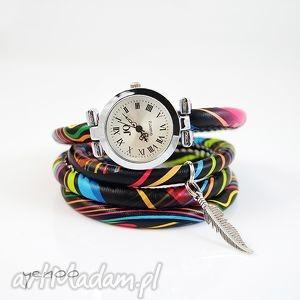 zegarek, bransoletka - kolorowy owijany, bransoletka
