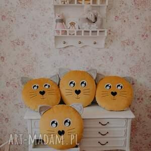 hand made pokoik dziecka poduszka kotek musztardowy