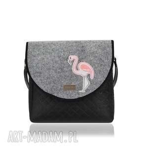na ramię torebka puro 1669 felt flamingo, puro, klapkomania, pikowana, filc