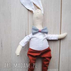 świąteczny prezent, pan królik, przytulanka, szmacianka, dziecka, eko, prezent