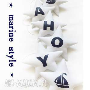ahoy - girlanda, gwiazdki, łódka, ahoy, marine