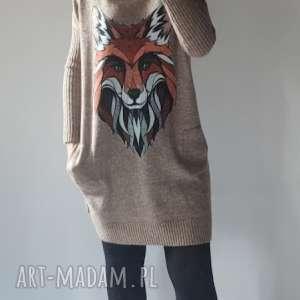 Klasyczna sukienka a kieszeniami swetry feltrisimi klasyczna