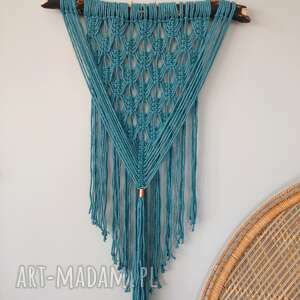 Makrama turquoise dekoracje macramotion makrama, boho, scienne,