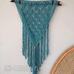 makrama turquoise, makrama, boho, dekoracje scienne, turkus, pod choinkę