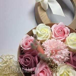 kosmetyczki box flowers with soap kwiaty z mydełka, prezent