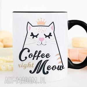 Prezent Kubek Coffee right meow , kubek, prezent, kot, znapisem, idealny, kociaki