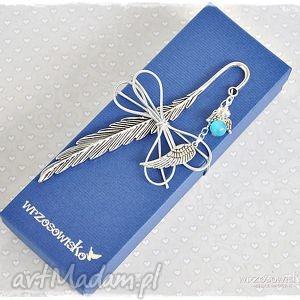 Prezent Anioł błękitny - zakładka w pudełku, zakładka, anioł, prezent, książka