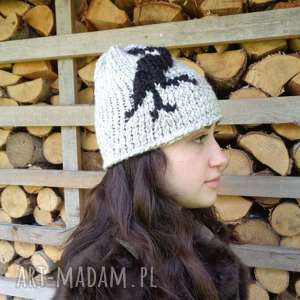 czapki limochka autorska czapka zimowa, robótkinadrutach, ręczniewykonane, dzierganie