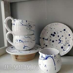 zestaw dwóch filiżanek i dzbanuszka 8, filiżanka do herbaty, prezent, ceramika