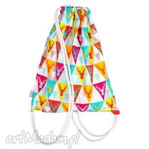 dla dziecka worek plecak bawełniany - miętowy jelon, worek